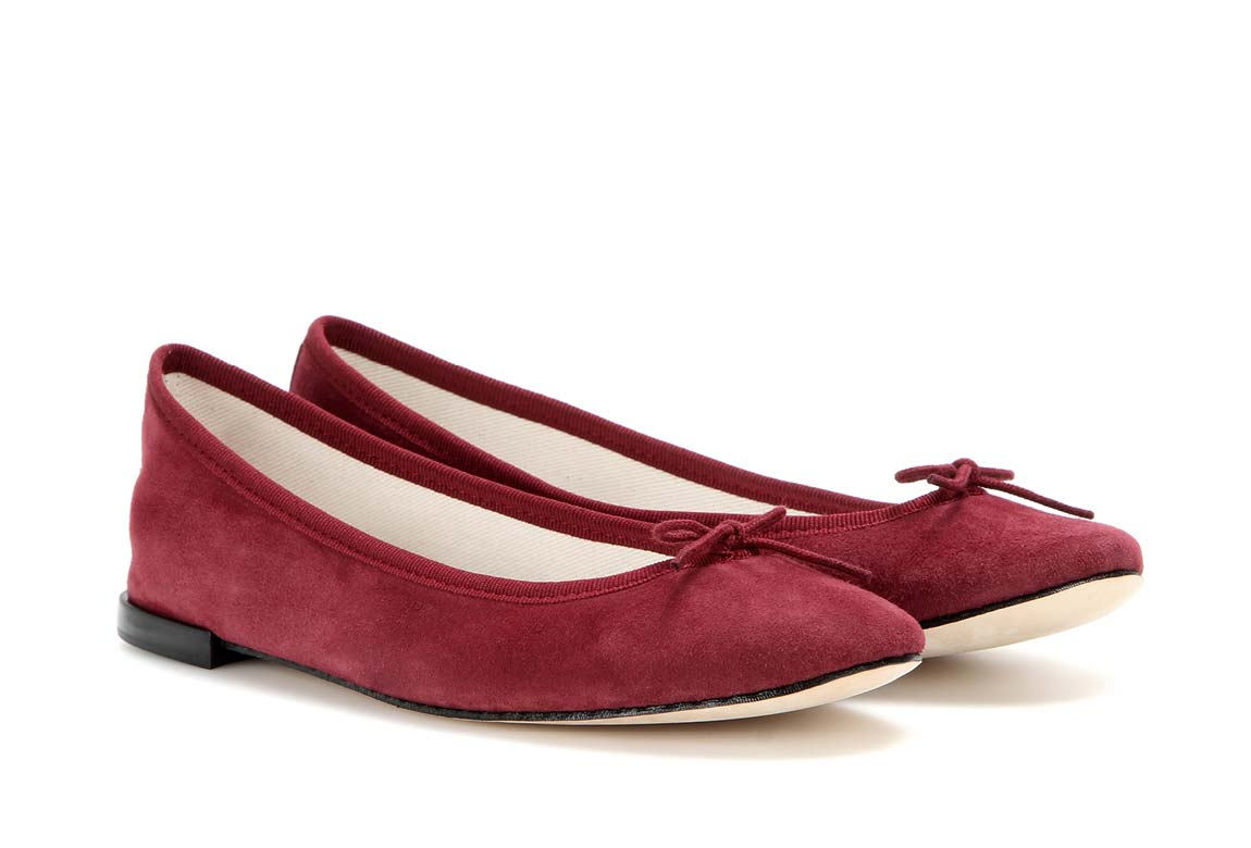 A pair of ballet shoes by the French shoe brand Repetto