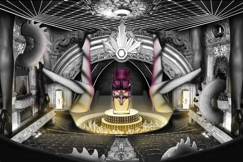 New York Saks Fifth Avenue Showcase Basado en nuevos problemas en Heaven Spirits