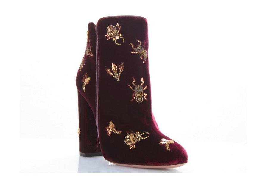 Aquazzura Fauna 105 Velvet Ankle Boots ($ 1,495)