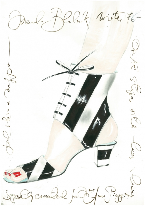Shoes by Manolo Blahnik will be shown in the Hermitage