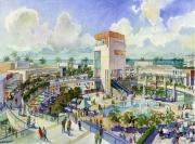 An open-air shopping center has opened in Sochi