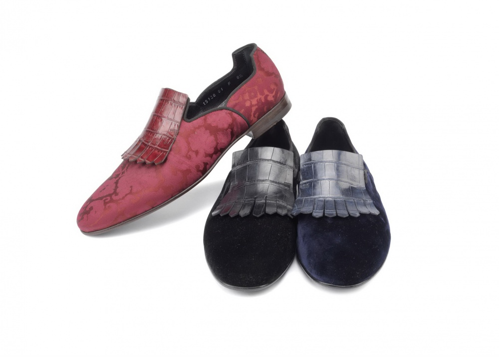 Santoni baroque slippers from the new autumn collection