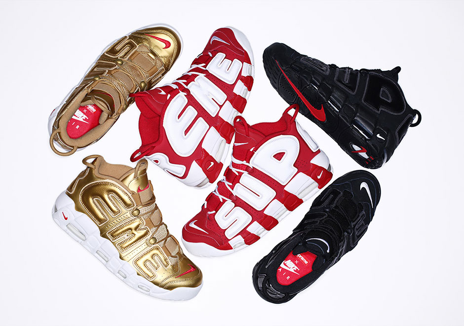 Supreme x Nike Air More Uptempo sneakers go on sale
