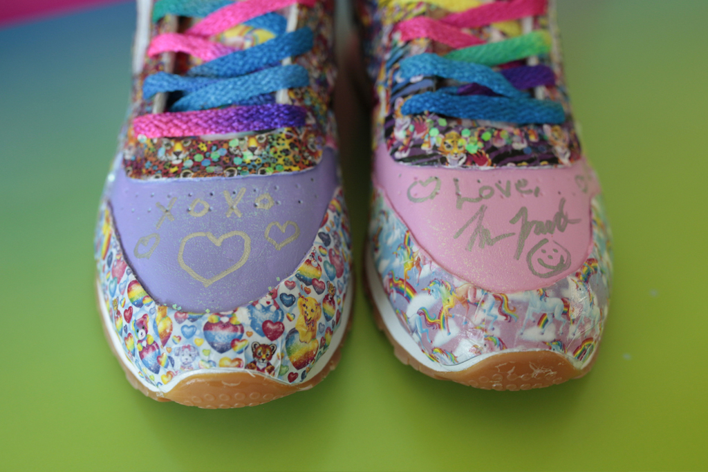 """Reebok's collection of """"school design"""" drawings by Lisa Frank"""