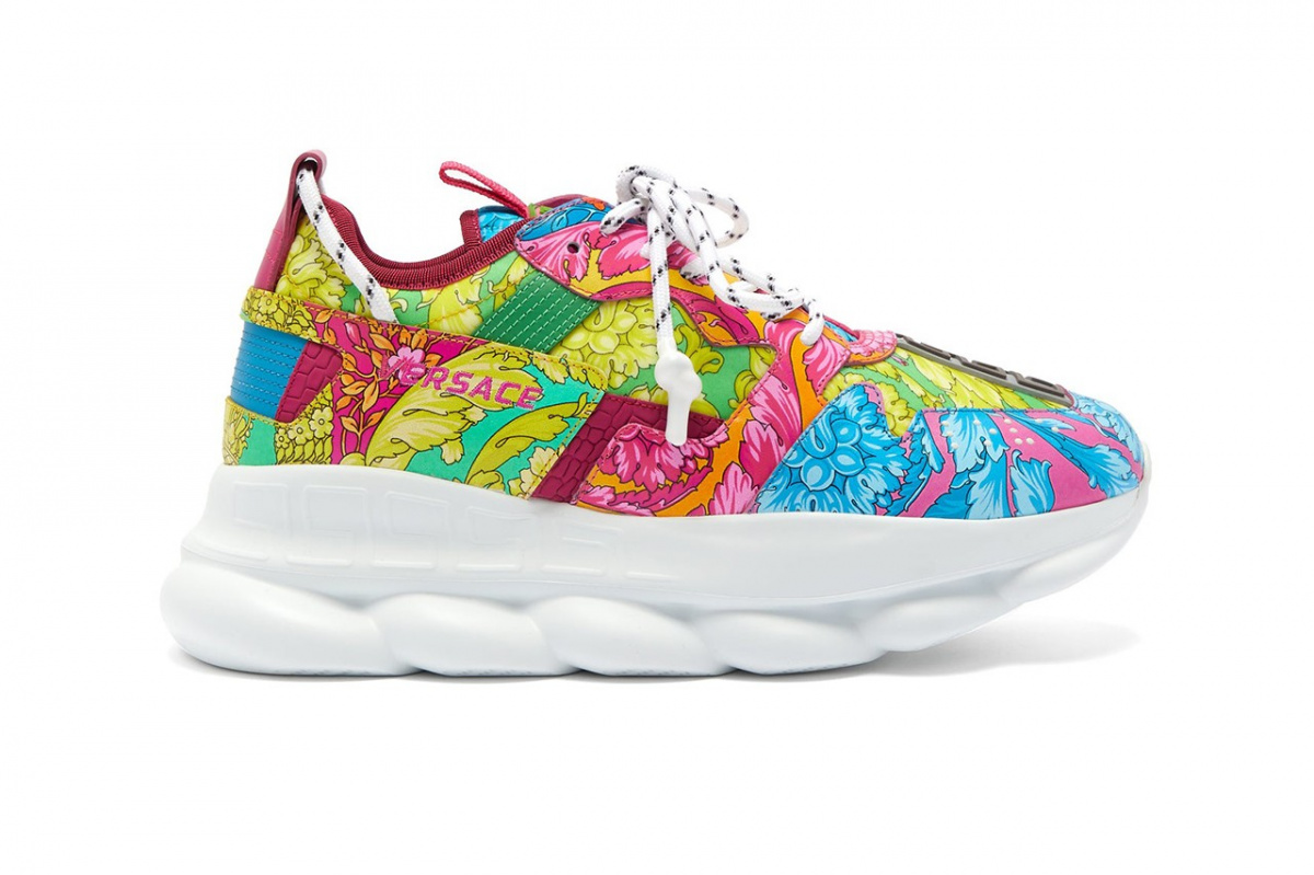 Versace Launches Baroque Print Sneakers