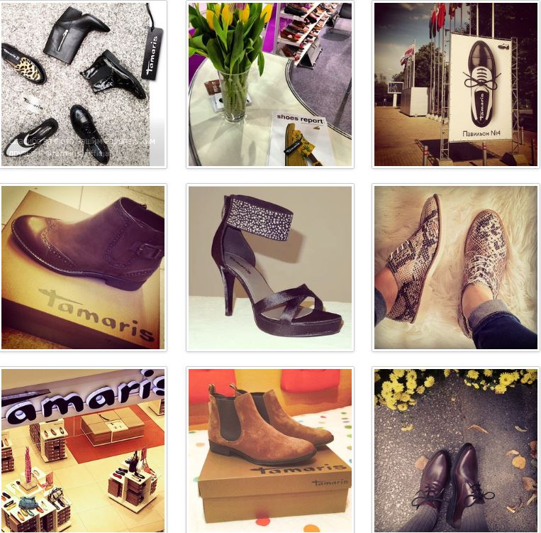 Tamaris women's shoes brand goes on social networks