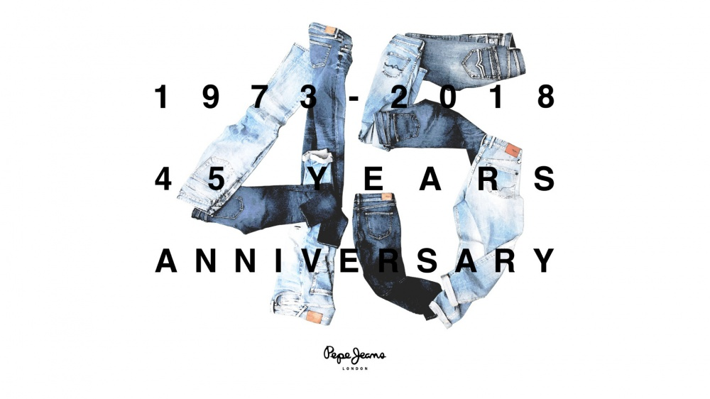 Pepe Jeans London. 45 anniversary of the brand