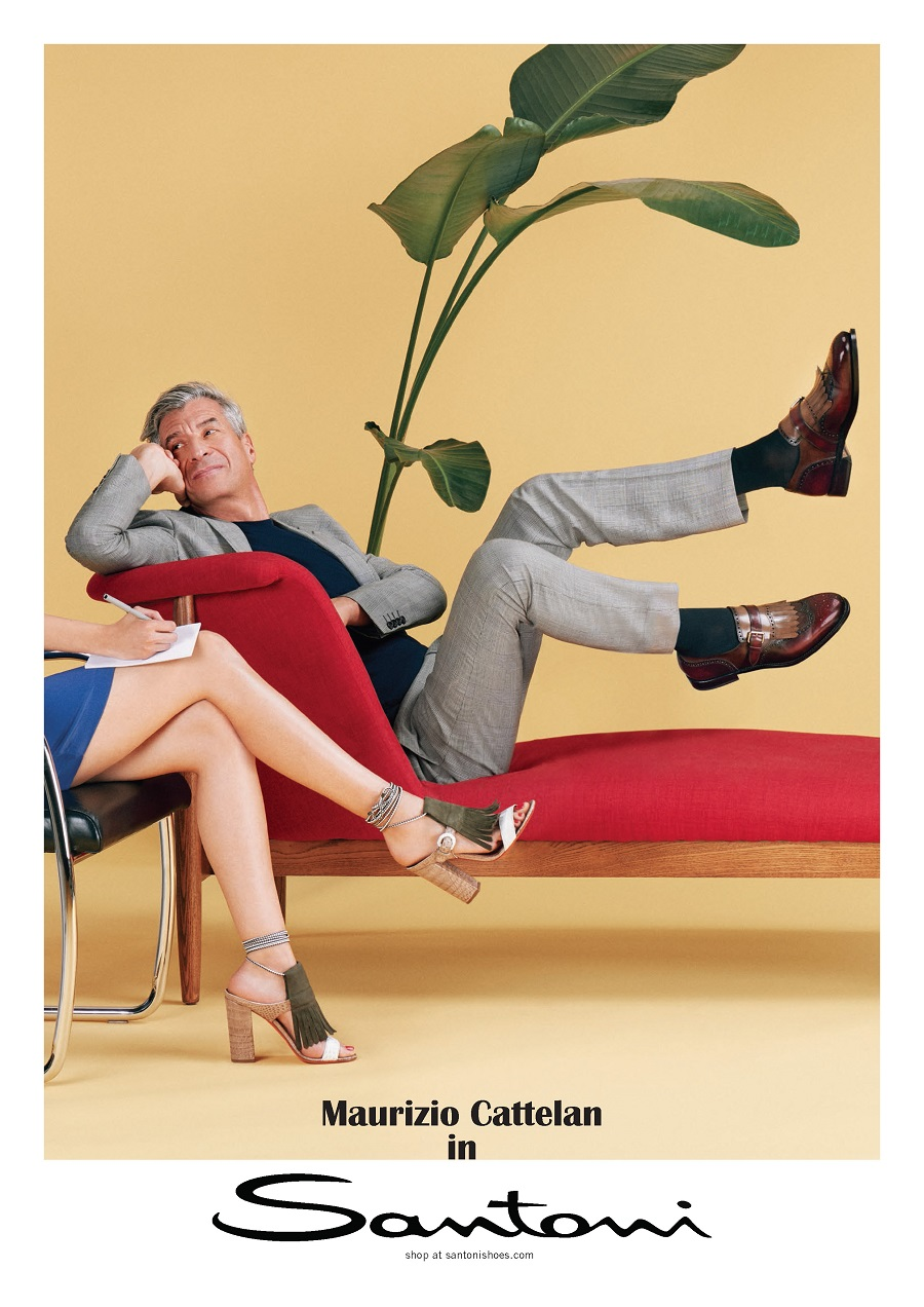 Santoni has produced 6 posters in support of the spring collection