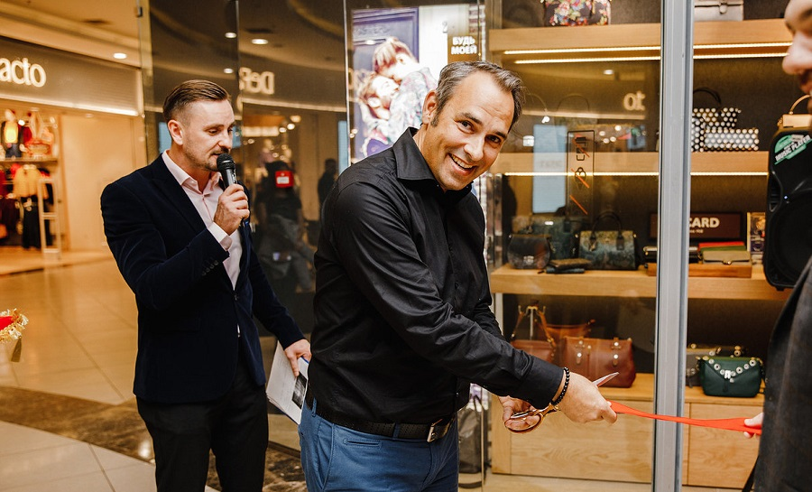 Pikard CEO Georg Picard at the opening of the Pikard Salon in Moscow