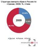 Während der Krise gewannen russische Hersteller nur 5% des Schuhmarktes
