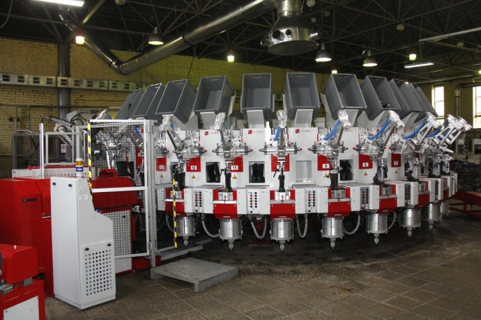 Vostok-Service installed an injection machine from Italy