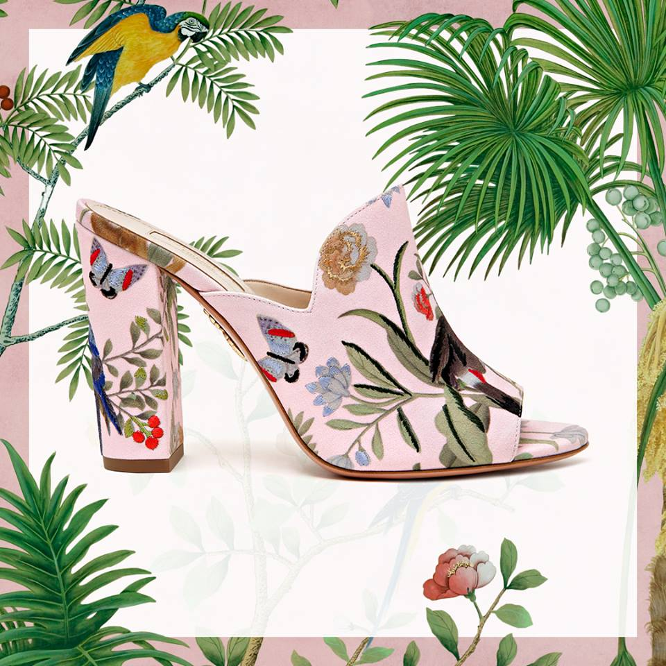 Aquazzura introduced capsule collection of shoes with Chinese embroidery