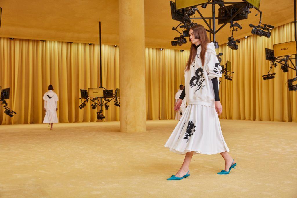 Das Hauptmodell der Prada Spring-Summer 2021-Kollektion sind die Cat-Heel-Schuhe