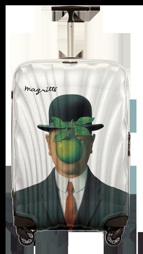 Samsonite inspired by Rene Magritte's paintings