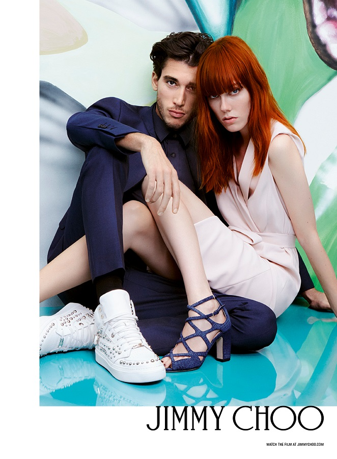Jimmy Choo spring-summer'XINUMX rainbow mood collection and advertising campaign
