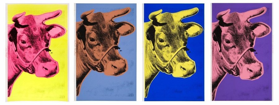"""Painting """"Cows"""" by Andy Warhol"""