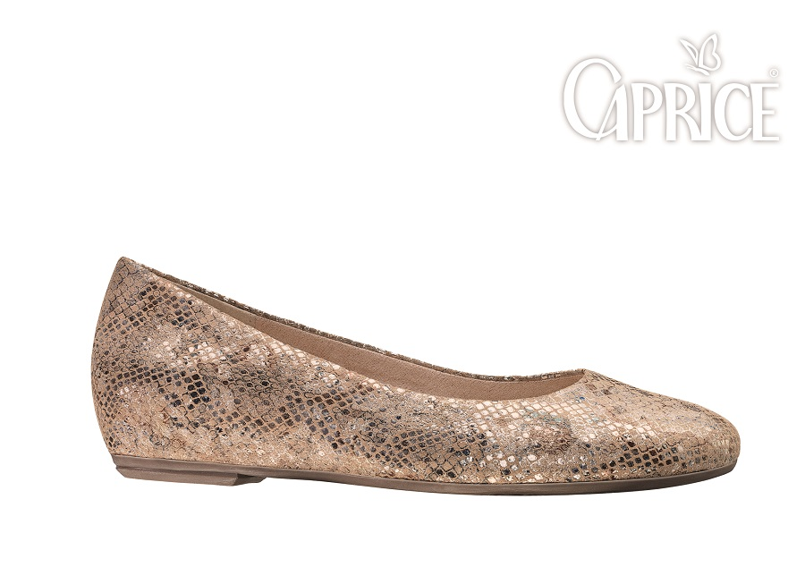 Reptile leather shoes - Caprice Premium Collection