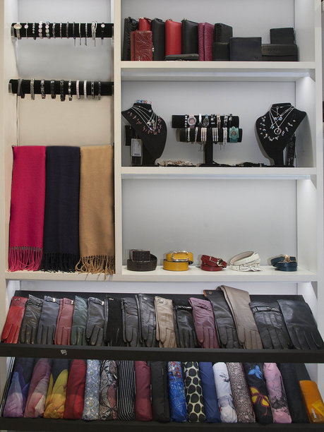 Accessories booth at Vera Victoria Vito store
