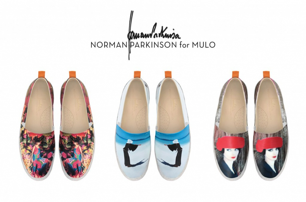 Espadrilles Mulo adorned images from Norman Parkinson's photo archive