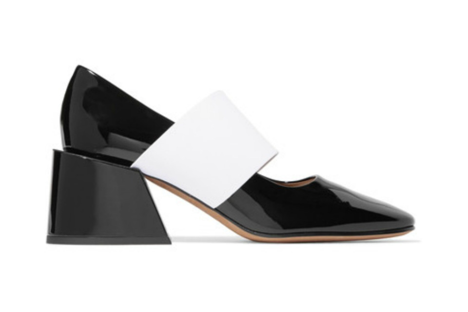 Spring is in the square. Angular shapes, square toes and heels in luxury brand shoes