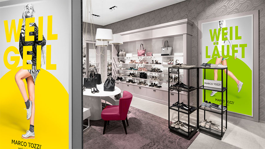 Marco Tozzi: rebranding and new store concept