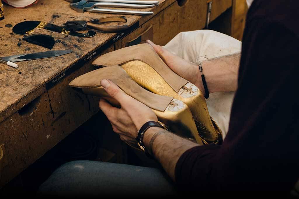 In der Werkstatt von Massaro, Foto: Footwearnews.com