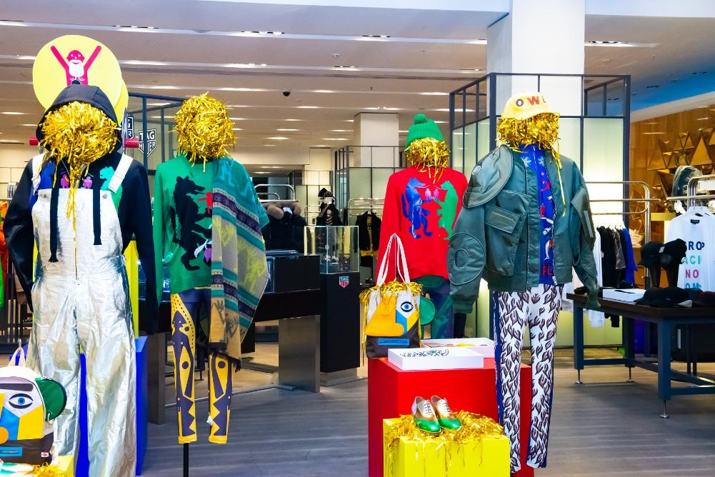 Pop up store di Capodanno Walter van Beirendonck, grandi magazzini Tsvetnoy, Mosca