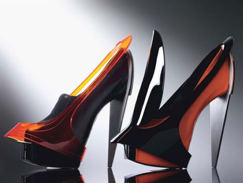 Designer Shaw Har Lee introduced a collection of architectural shoes