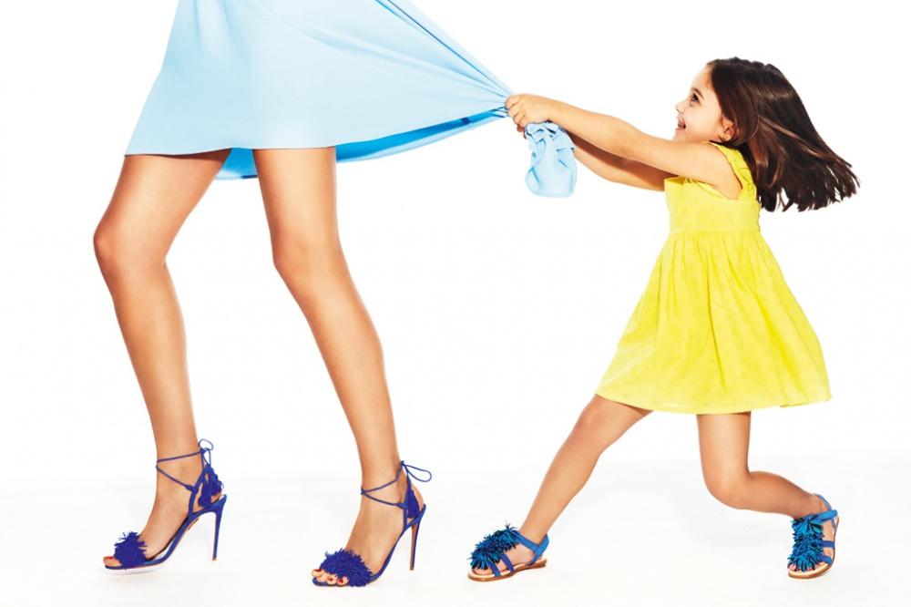 Italian luxury brand Aquazzura has launched a children's collection