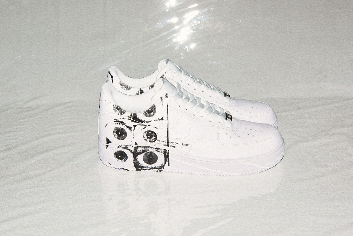 Supreme and COMME des GARÇONS redesigned Nike Air Force1 sneakers