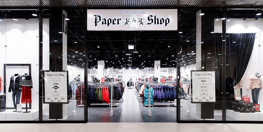 Outlet of fashionable clothes, shoes and accessories Paper Shop opened in Moscow