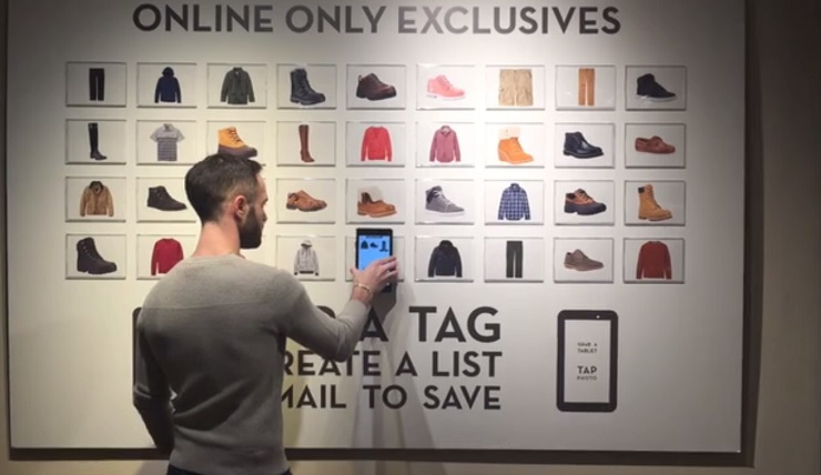 Timberland has equipped a new store tablets