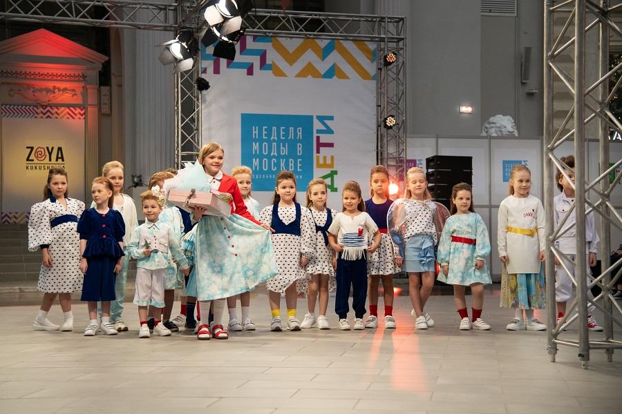 Ralf Ringer participó en el desfile de moda infantil de la semana de la moda de Moscú