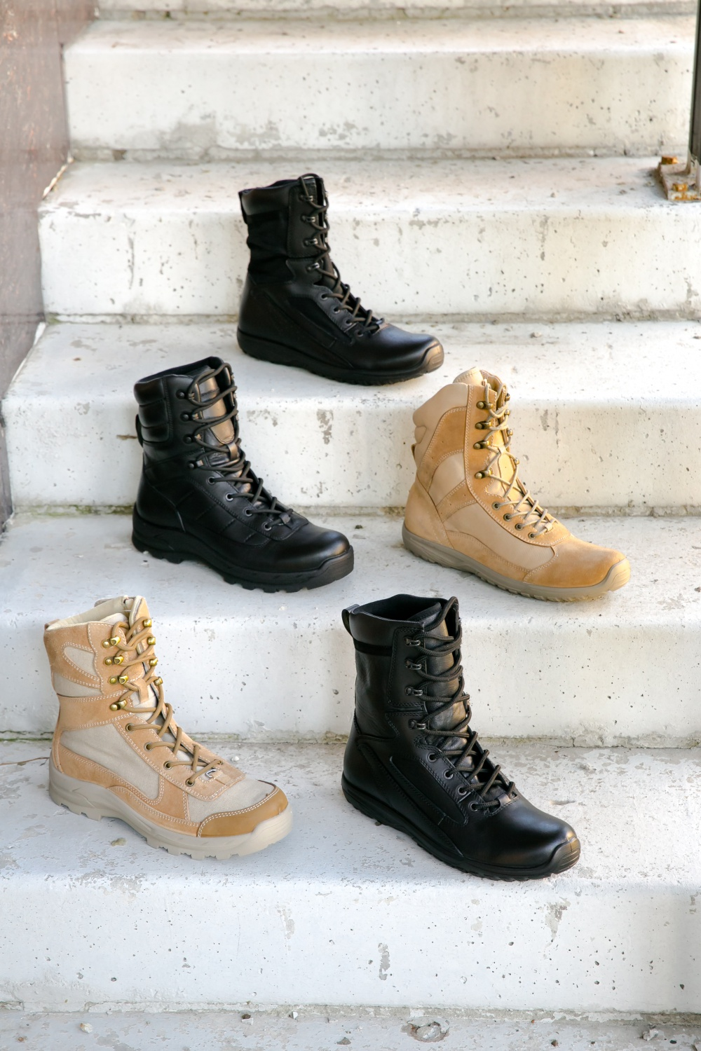 Russian Shoes has created a collection of military shoes