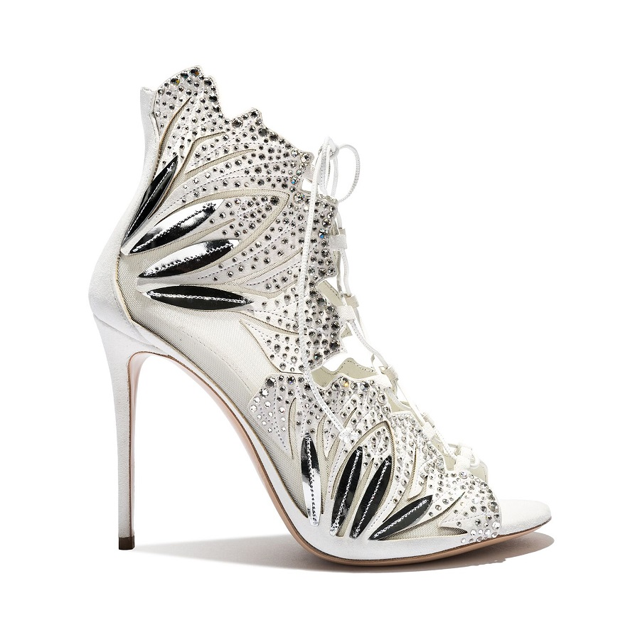 Casadei introduced a new collection of wedding shoes