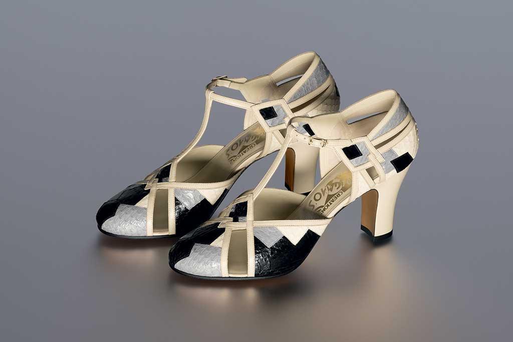 Salvatore Ferragamo, actress Joan Crawford sandals Foxtrot