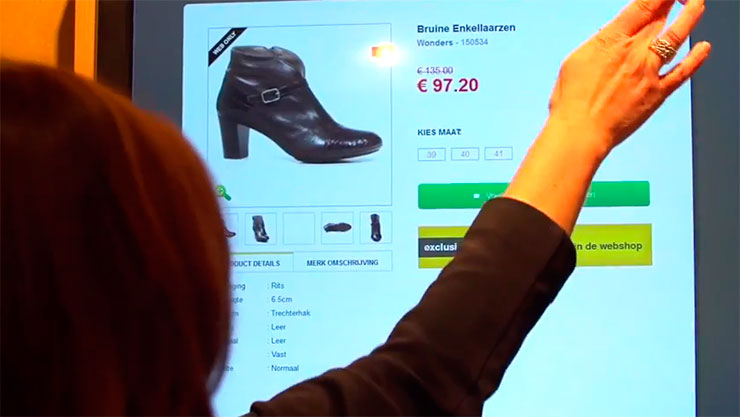Torfs shoe chain stores interactive screens