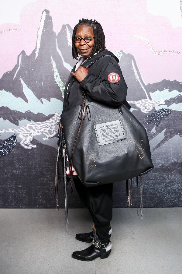 Actress Whoopi Goldberg attends Coach show at New York Fashion Week
