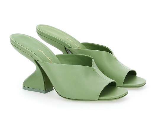 Salvatore Ferragamo once again demonstrates the F-shaped heel