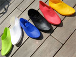 In Spain, developed shoes made of organic polymers