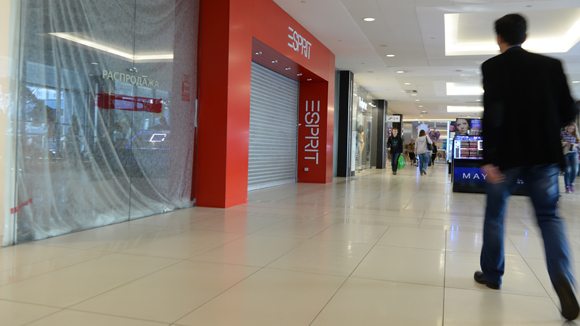 Every tenth square meter in a shopping center is empty in Moscow