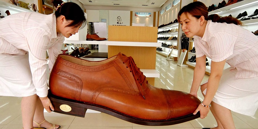 Asia is the largest continent in terms of footwear consumption