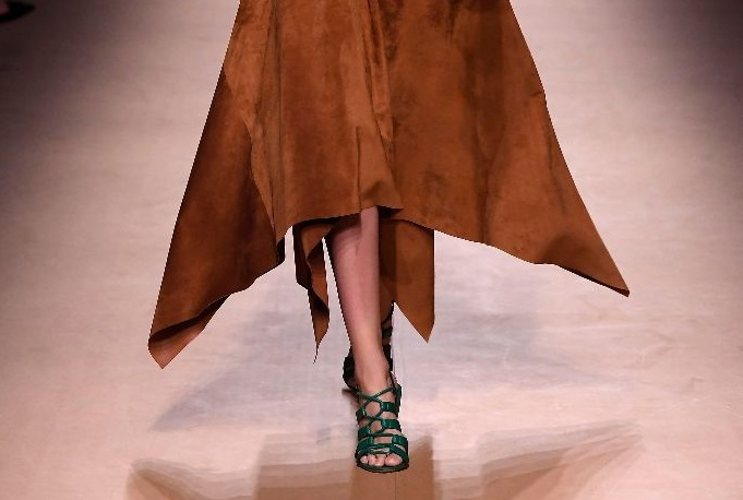 Salvatore Ferragamo unveils a collection of sculpted sandals at Milan Fashion Week