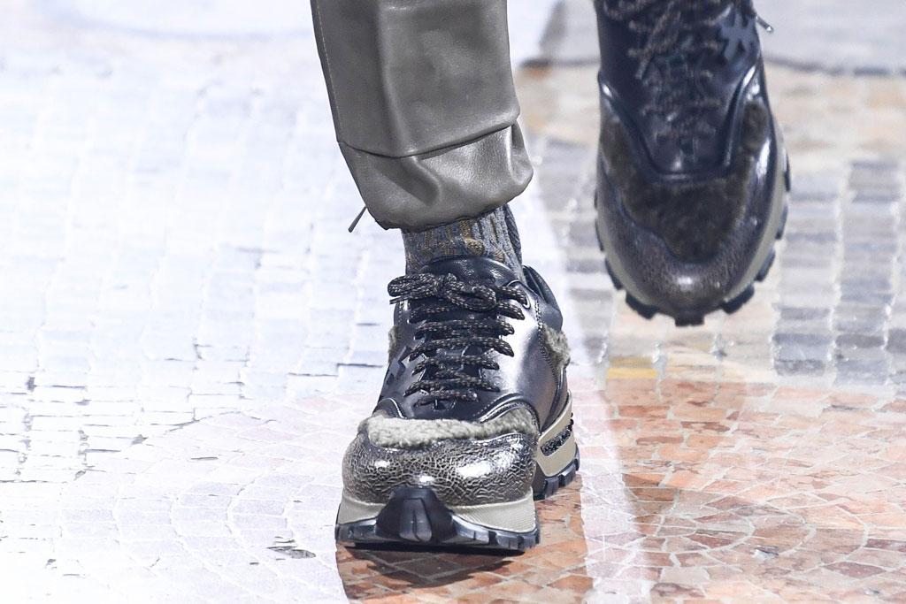 """Gemischte Materialien im Design der Ermenegildo Zegna-Sneakers """"Cesare"""", Herbst-Winter'19, Foto: Footwearnews.com"""