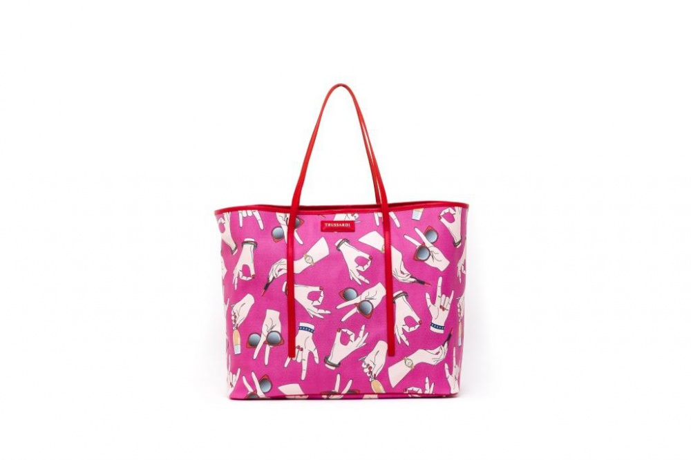Trussardi bags and accessories in pop art style