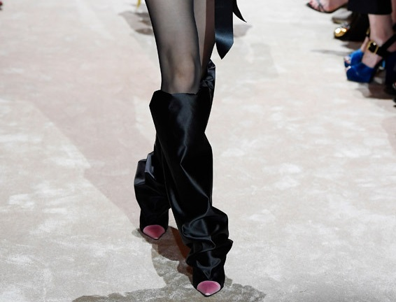 Alexandre Vauthier introduced a new modification of the accordion boot at Haute Couture Week