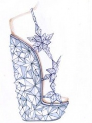 Luxurious shoes by Casadei and Swarovski