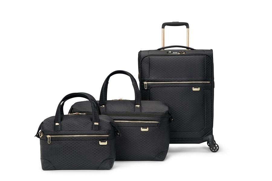 Samsonite has released a collection of two-tone luggage for the holidays