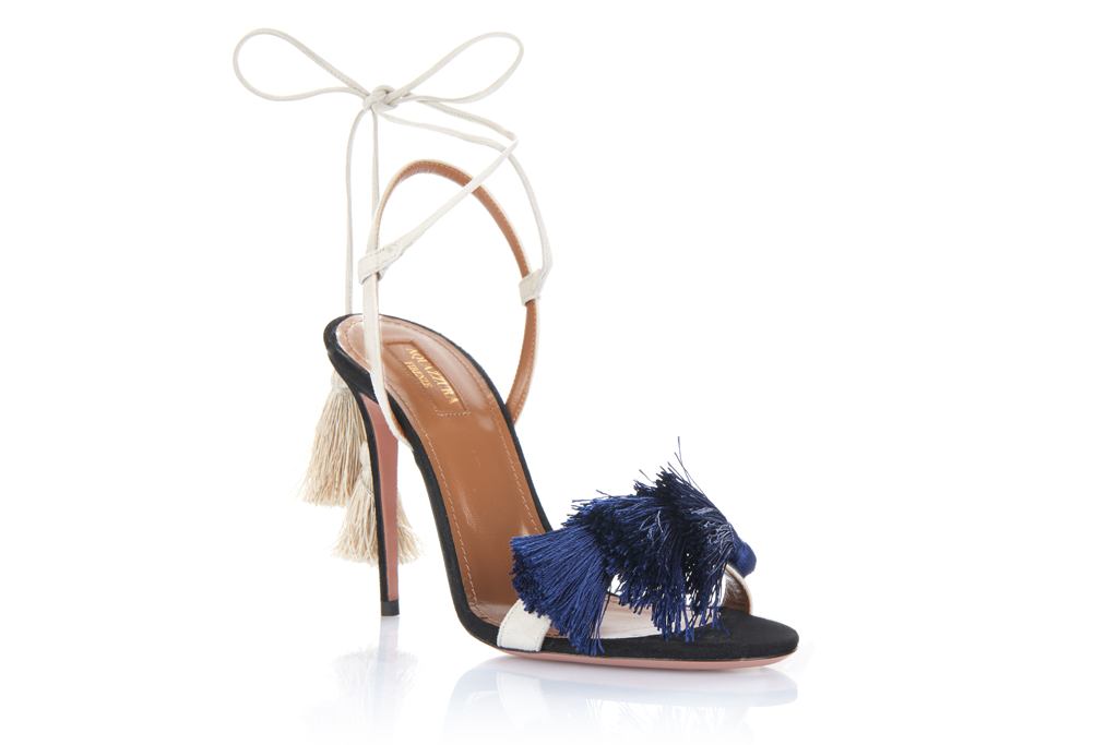 Net-a-porter.com partnered with Aquazzura and Johanna Ortiz to launch their debut capsule shoe collection