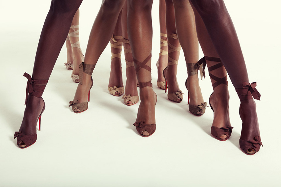 Christian Louboutin has released a capsule collection in nude tones